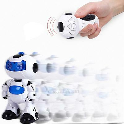 RC Robot Toy Remote Control Musical Electronic Walk Dancing Lighten Gift Robot