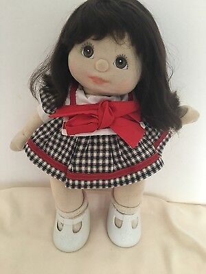 My Child Doll Long Brown Hair Brown Eyes Lovely Girl Dressed with Shoes