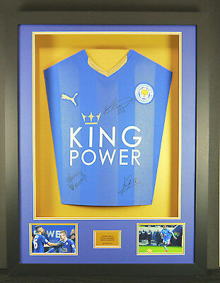 Leicester City Champions Signed Shirt Framed Display With Coa