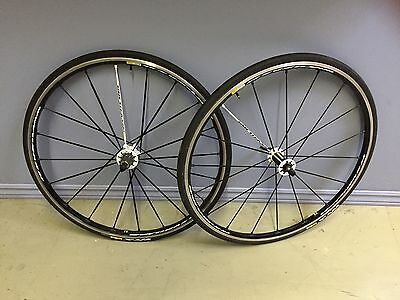 Mavic Ksyrium SLS Wheels Shimano 10/11 speed w/ Tubular Tires