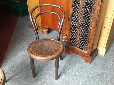 Vintage Child's Bentwood Thonet Chair Quirky Cafe Bistro Christmas Gift Present