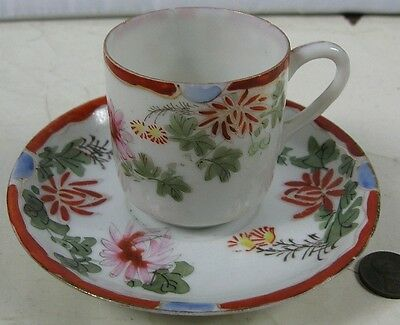 Antique Demitasse Cup & Saucer Chinese or Japaneses