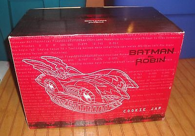 1997 WB DC Batman & Robin BATMOBILE Cookie Jar in box