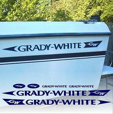 Liquidation - Grady White Decals Factory Sized Hull Replacement Stickers