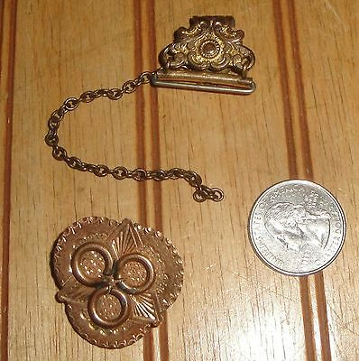 Vintage Antique Rolled Gold ? 2 Pieces Brooch as is