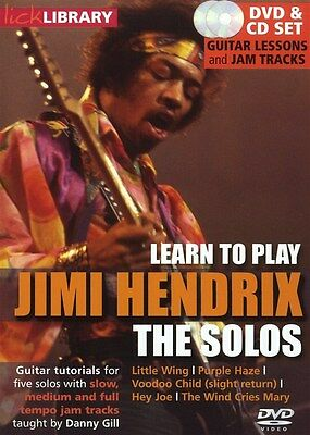 Lick Library: Learn To Play Jimi Hendrix - The Solos. Guitar DVD (Region 0), CD