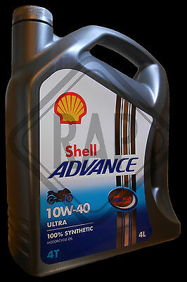 Shell Advanced Ultra 4T 10w40 Fully Synthetic Motorcycle Oil 4 L NEXT DAY DEL