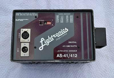 Lightronics Stage Control Dimmer Pack AS41 AS 41 - 4 Channels x 1200 Watts