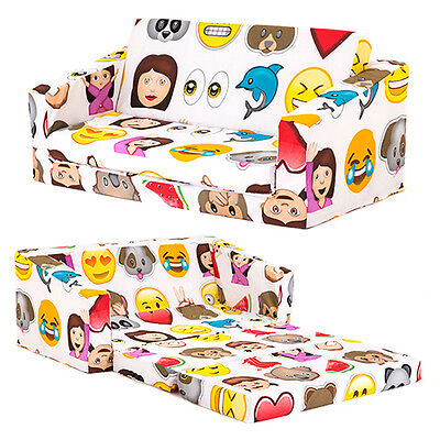 Emoji Kids Flip Out 'Lily' Sofa Bed Emoticons Fold Out Children's Furniture