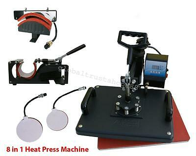 USA 5 In 1 Digital Transfer Sublimation T-Shirt Mug Plate Heat Press Equipment