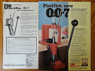Hornady Pacific 007 Metallic Cartridge Reloading Tool Instructions & Parts List