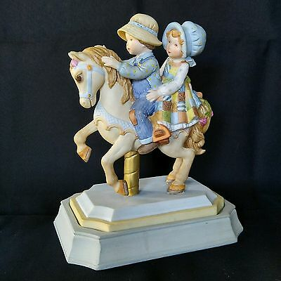Holly Hobbie on the Carousel Porcelain Figurine Collectors Limited Edition 1981
