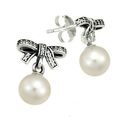Genuine Pandora Delicate Sentiments Earrings 290596P with Pandora Gift Box
