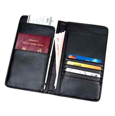 Leather Passport Travel Document Ticket Holder Organiser Purse Card Wallet RFID