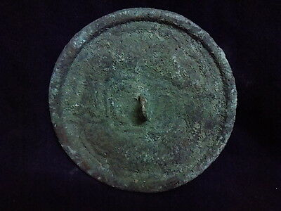 Ancient Bronze Mirror Roman 200 BC      #SG8712
