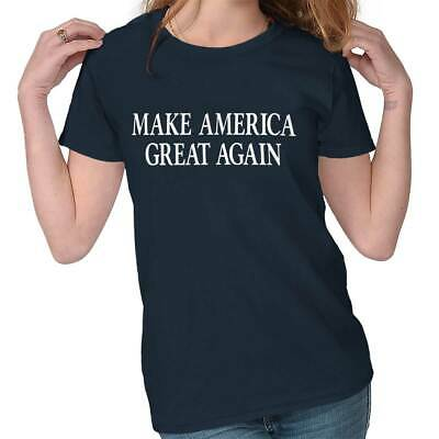 Make America Great President Donald Trump USA Republican Ladies Tee Shirt T