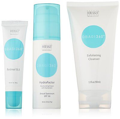 Obagi 360 System Kit Cleanser HydraFactor Retinol 0.5 Authentic **See Details**