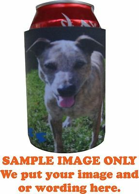 Personalised Photo STUBBY or CAN Holder,Birthday Bucks,Fathers Day & Weddings,