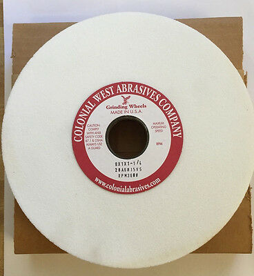 """Colonial West Grinding Wheel - 8"""" X 1"""" X 1-1/4"""" 60 Grit, 20A60J5VS, Type 5"""