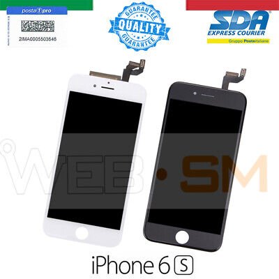 Iphone 6S Lcd Schermo Display Retina Touch Screen Vetro Frame Bianco Nero