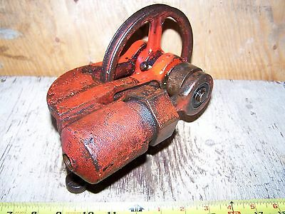 Old Belt Driven Piston Type Water Pump Hit Miss Gas Engine Cooling Tower Steam