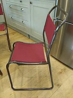 6 Vintage industrial stacking chairs, garden chairs, bistro chairs, rough luxe,
