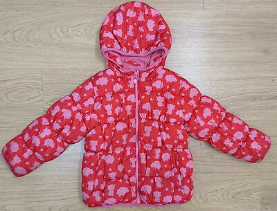 NEXT girls puffa jacket coat age 5-6 years red