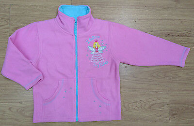 JPW JUNIOR girls fleece jacket age 5-6 years pink fairy