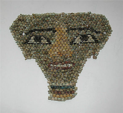 Egypt 400Bc Ptolemic Period Xxx Dynasty Funeral Death Mask Faience Beads Mummy