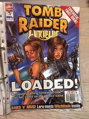 Tomb Raider Witchblade official magazine comic book Top Cow Issue 1 2