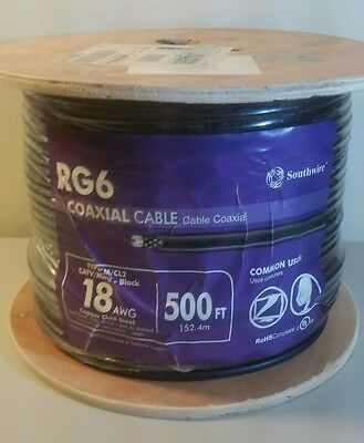 Southwire RG6 coaxial cable 500 feet 18 AWG - New