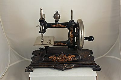 Muller Number 12 Cast Iron Toy Sewing Machine Made in Germany Early 1900's EX