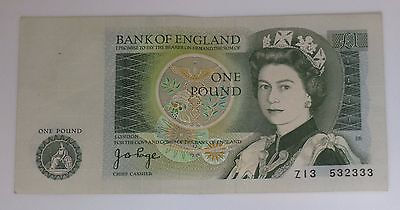 1971-1982 Bank of England 1 Pound Note Great Britain Currency Z13 532333