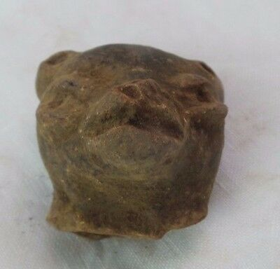 Pre Columbian Colombian Mayan Terracotta Figure Head  #20