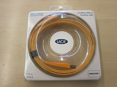 LACIE FireWire  400 To 400 Flat Cable      4'   Free shipping.