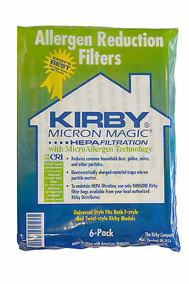 Genuine Kirby HEPA Bags Pack of 6 Bags For All Kirby Vacuum Models: 204811