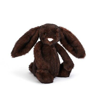 NEW GENUINE Jellycat Bashful Walnut Bunny Medium 31cm Plush Super Soft Teddy