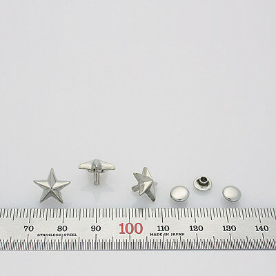 25pcs 12x5mm star rivets leather craft punk stuffs DIY silver