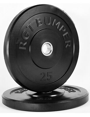 """PROIRON 2"""" Olympic Barbell Rubber Bumper Weight Plates Weights Fitness Exercise"""