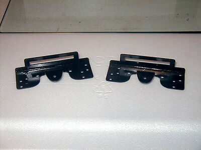 2 (1 Pair) American Flyer Standard Gauge Coupler Brackets Black ready to install