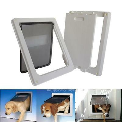 Extra Large Pet Cat Dog Lockable Flap Door Gate Telescoping Frame 13.7x11.4x1.5