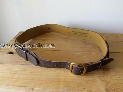 Vintage Leather Official Boy Scout Leaders Two Strap Belt - Size 34