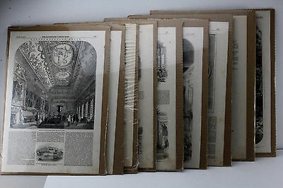"9 Boarded Pages From ""The Illustrated London News"". All Dated 1851."