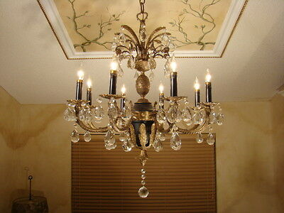 Unusual Spectacular Old Empire Pineapple Chandelier