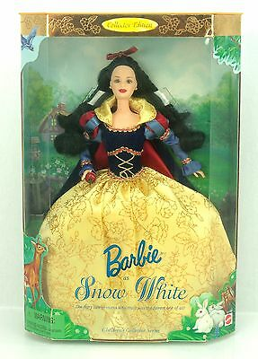 SNOW WHITE Barbie Collector Edition Childrens Princess Doll #21130 1998