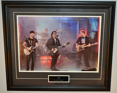 Bono - U2 - Autographed - Signed 14X20 Inches Concert Photo Frame
