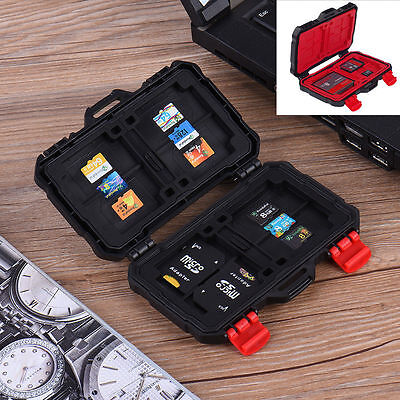 Waterproof Storage Memory SD Card Box Protective Case Holder for CF SD MSD XQD