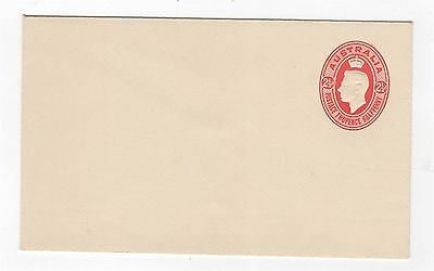 1942 ENVELOPE  KGVI EMBOSSED OVAL - 2 1/2d RED ON CREAM STOCK ~  #200086