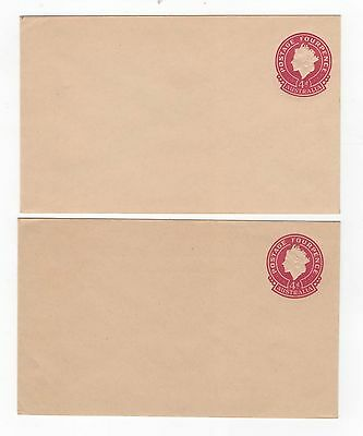 1953 ENVELOPE QEII SMALL (25mm) 4d CARMINE ON BROWN-BUFF STOCK.  ~  #200096