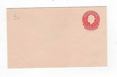 1970 ENVELOPE QEII SMALL (25MM) 6c RED ON BROWN-BUFF STOCK, P.O.P.~  #200104